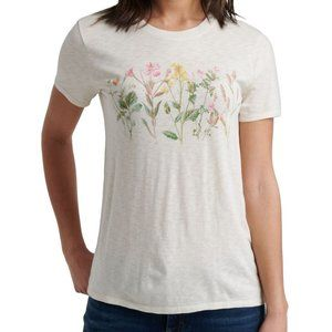NWT-Lucky Brand - Women's White Floral Top